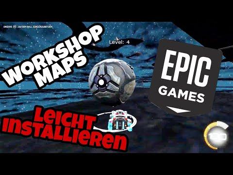 Rocket League | Custom Maps spielen über Epic Games | Workshop Maps installieren Tutorial | Deutsch