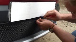 Видео: Защитная сетка радиатора Renault Sandero Stepway black