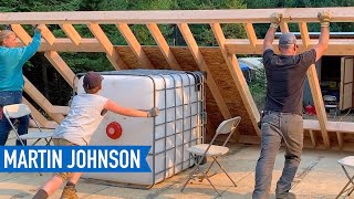 Raising Our Second Exterior Wall | Off Grid Cabin Build #16
