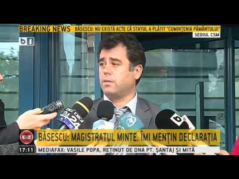 Declaratiile magistratului Dumbrava, la care a facut referire Traian Basescu