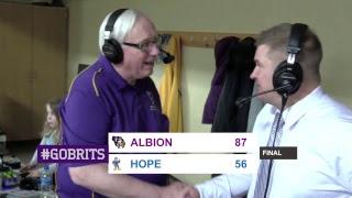 MIAA Men's basketball: Hope at Albion