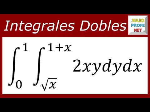 INTEGRALES DOBLES - Ejercicio 1