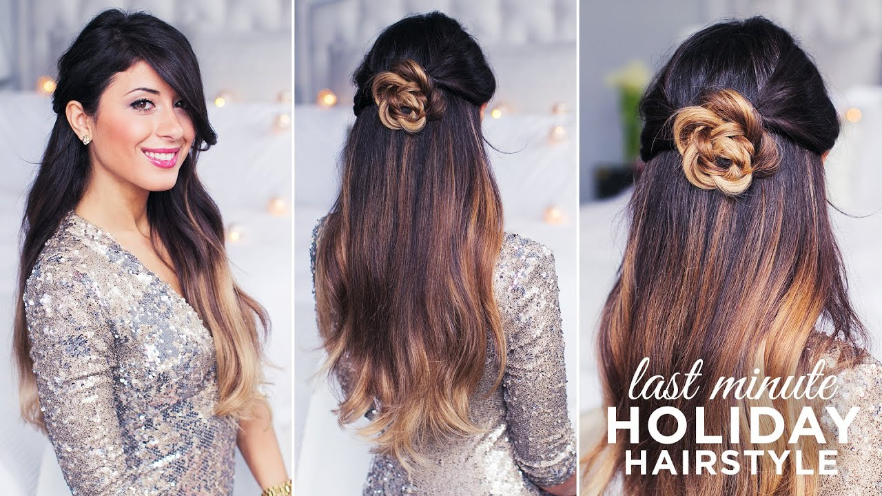 Hairstyles Holiday : Cute and Easy Last Minute Holiday Hairstyle  Keep Calm and Carry On ...