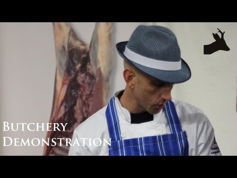 How to butcher roe deer. Venison butchery demonstration.