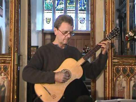 Stephen Gordon performs Gaspar Sanz Pavanne on a Baroque Guitar