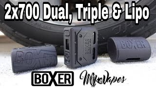 Boxer Mod Dual & Triple 21700 Mods & The Lipo 400w DNA250c - Mike Vapes