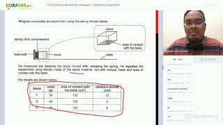 PSLE Science Answering Techniques - Experiment Questions
