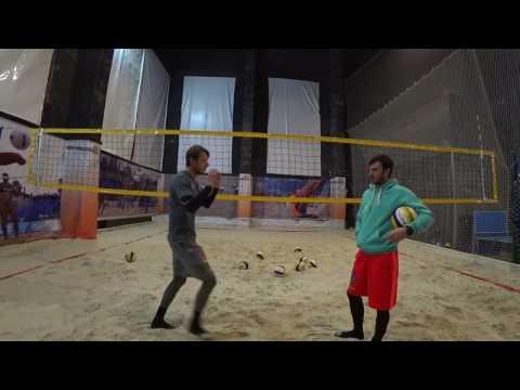 Передача сверху в пляжном волейболе. ЧАСТЬ 2 - Работа НОГ