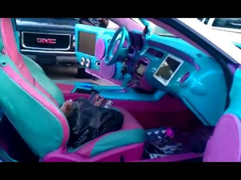 Big Boi S Pink Amp Baby Blue Camaro On 32 Davin Floaters