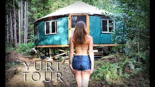 FULL YURT TOUR | Tiny House in the Forest - Living Off Grid - Ep. 50