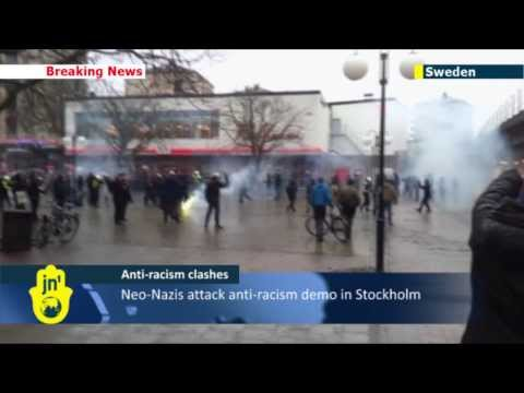Violence in Stockholm: Neo-Nazis attack planned anti-racism protest in city suburb