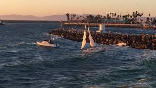 Dramatic Redondo Beach Harbor Rescue