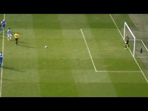 Aguero penalty - Manchester City v Everton (5/10/13)