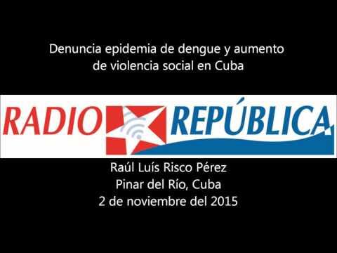Denuncia el aumento del dengue y la violencia social en Cuba