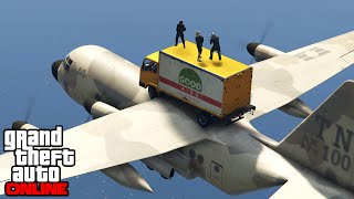 GTA 5 Online - Funny Moments, Stunts & Airport Race || PC