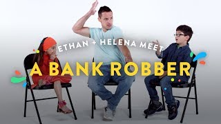 Kids Meet A Bank Robber (Ethan and Helena) | Kids Meet | HiHo Kids