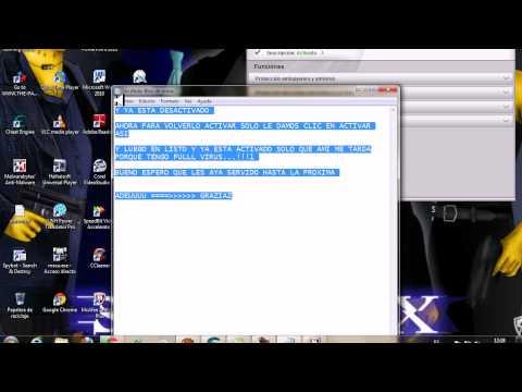 como desactivar McAfee Antivirus Plus 2010 por (15) minutos 2012