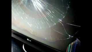 """TV lcd """"42"""" polegadas LG com a tela quebrada"""
