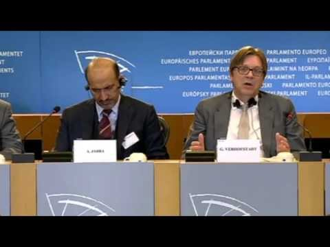 Press Conference by Guy Verhofstadt and Ahmed Jarba on the situation in Syria