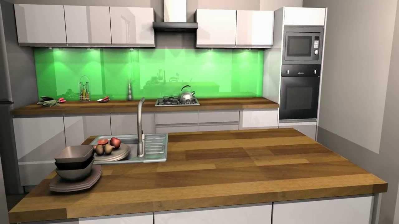 Projekty kuchnia laminowana i w białym połysku  YouTube -> Kuchnia Orzech Artemide