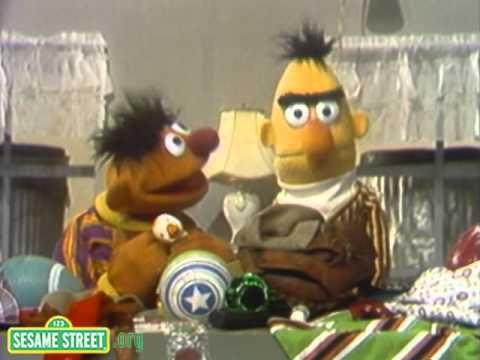 Sesame Street - Ernie Cleans Up The Apartment