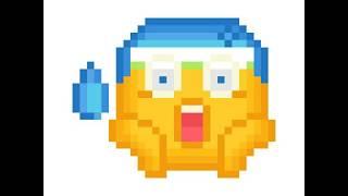 Pixel Art - Scared Emoji