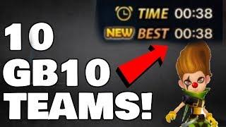 10 Unique GB10 Speed Teams - NO NAT 5 Giants B10 Speed Teams - Summoners War