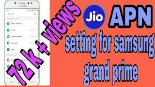 Jio setting for samsung grand prime