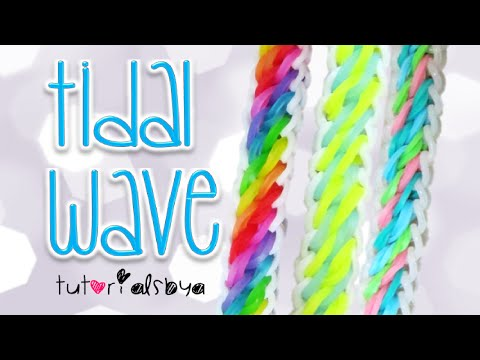 NEW Tidal Wave Rainbow Loom Bracelet Tutorial   How To