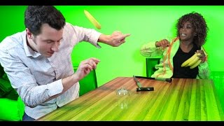 GloZell Attacks Magician w/ Bananas