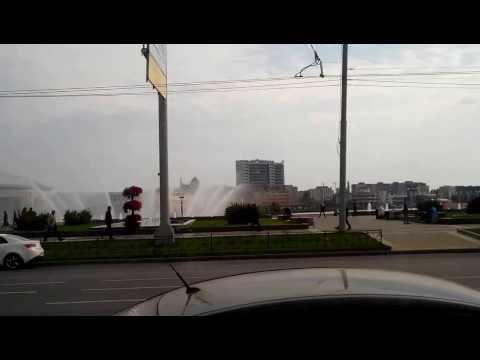 Казань из окна автобуса