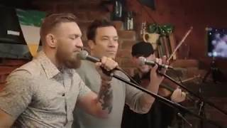 """Conor McGregor Conor McGregor & Jimmy Fallon sing """"Whiskey in the Jar"""" in New York"""