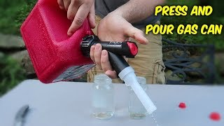 Press and Pour Gas Can Test