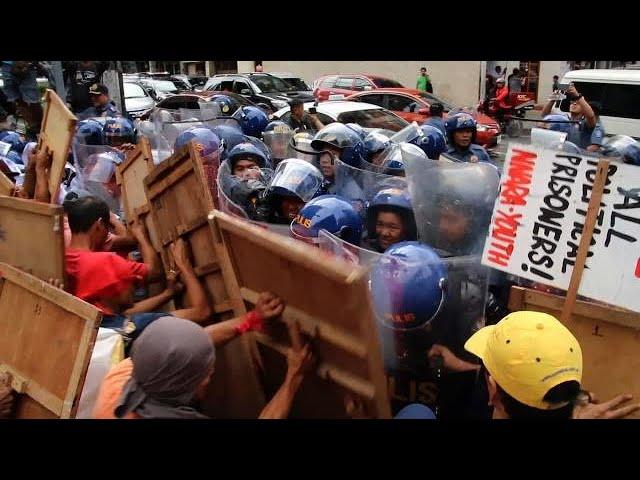 Anti-Trump protest in Manila ahead of US president's visit