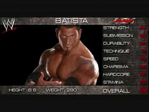 WWE Smackdown vs Raw 2009 Official Roster! part 2