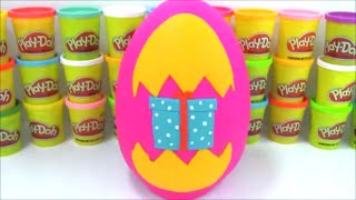 OpenMoreToys Giant Play Doh Surprise Egg 100,000 Subscribers Thank You Video
