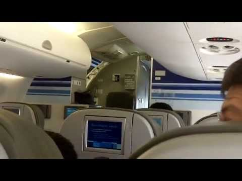 Inside a JETBLUE Embraer 190 at San Juan Puerto Rico