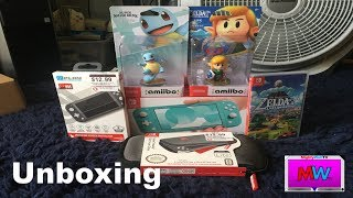 Unboxing | Nintendo Switch Lite (In Turquoise) + Link's Awakening & More!!!!