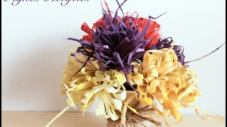 How to make corn husk flowers