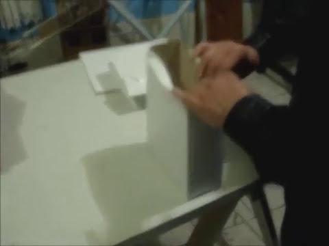 Mquina pneumtica para colagem de sacolas de papel