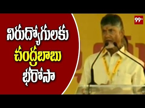AP CM Chandrababu Speech on Nirudyoga Bruthi at Anantapur | 99TV Telugu