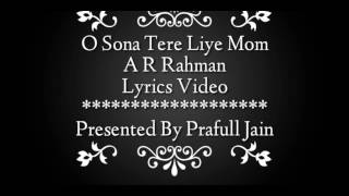 download lagu O Sona Tere Liye Mom   Ar Rahman gratis