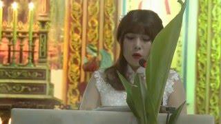 Hà Trang hát đáp ca trong ngày Lễ Hôn Phối