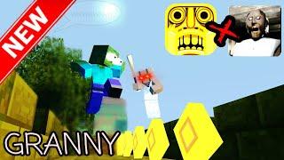Monster School : GRANNY VS TEMPLE RUN GAME CHALLENGE - Minecraft Animation