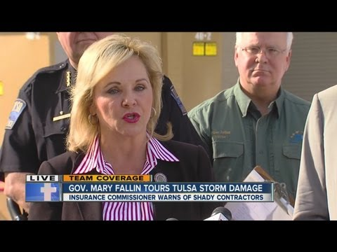 Gov. Mary Fallin speaks live in Tulsa