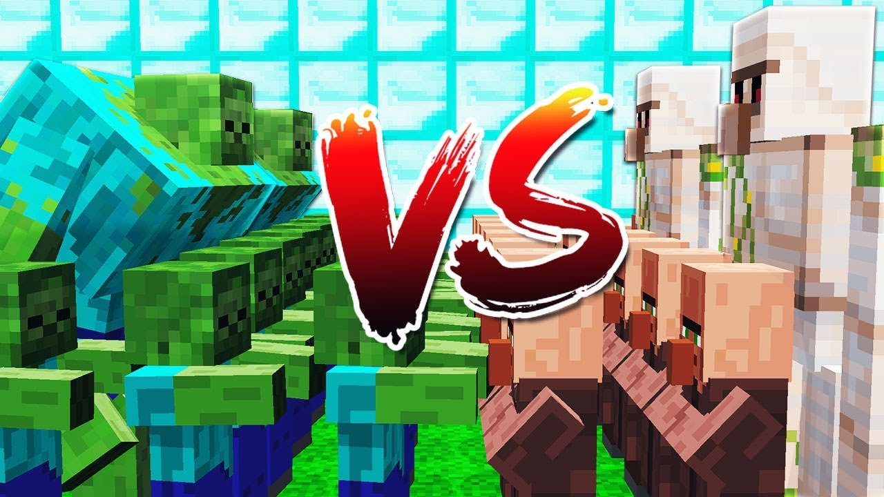 1000 MUTANT ZOMBIES VS. 1000 MUTANT IRON GOLEMS! - MINECRAFT