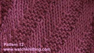 (Tilt stripes) - simple Patterns - Free Knitting Patterns Tutorial - Watch Knitting - pattern 12