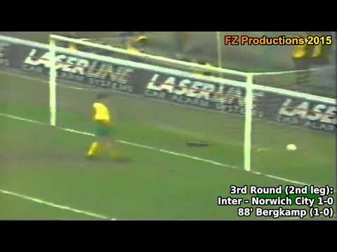 All the goals scored by FC Internazionale, winner of the 1993/94 UEFA Cup. Internazionale won the trophy overcoming Rapid Bucharest, Apollon Limassol, Norwich City, Borussia Dortmund, Cagliari...
