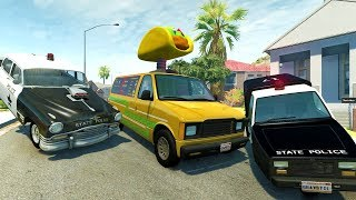HOT ROD HIGH SPEED POLICE CHASES AND GETAWAYS - BeamNG Drive Crash Test Compilation Gameplay