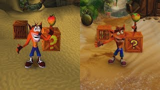 Crash Bandicoot Trilogy | Stand Animations Comparison and News | Comparativa de animaciones
